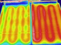 Termografska primerjava Euroval z običajno okroglo cevjo